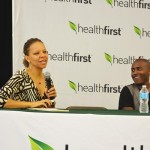 Dr. Melba Taylor and actor Kenneth Todd Nelson during a panel discussion on mental health.