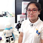 """""""Pensé que sería interesante tener un robot que se preocupara por ti"""", dijo el estudiante Montiel."""