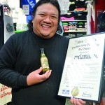 Chef King Phojanakong with his creation – and proclamation.