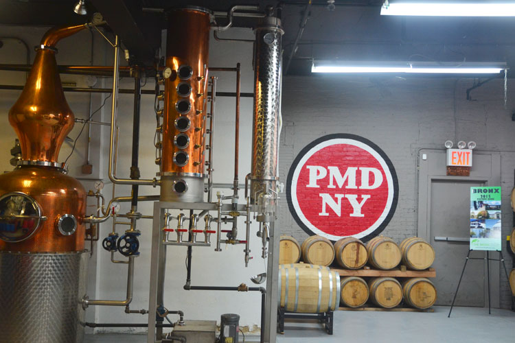 The event was held at the Port Morris Distillery.