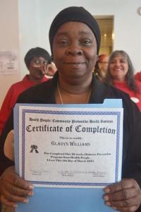 La graduada Gladys.