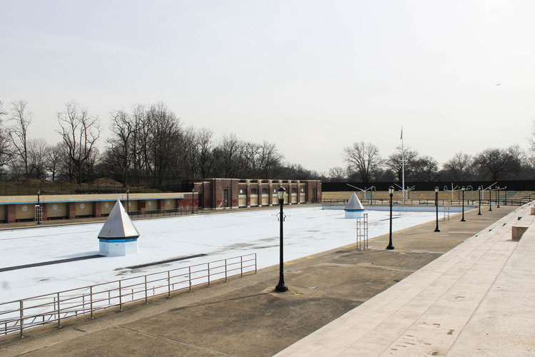 This is the borough's largest pool.