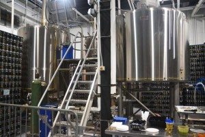 The brewing vats.