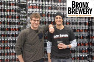 Bronx Brewery co-founders Damian Brown and Chris Gallant.