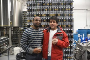 """""""It has a unique flavor,"""" said Wasnard Victor (left) with Andres Lara."""