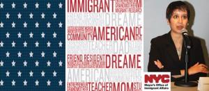"""""""We are the quintessential immigrant city"""" <p align=RIGHT> """"Somos la ciudad de inmigrantes por excelencia"""""""