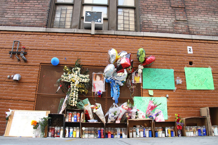 The memorial on Sheridan Avenue.  Photo: Catherine Fonseca