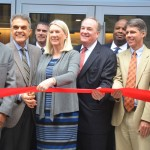 The official ribbon-cutting ceremony.