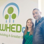 """""""We want to engage tenants,"""" said Meredith Leverich, WHEDco's Director of Strategic Initiatives with Chef Russell Jackson."""