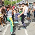 Mestre Ombrinho and the New York Capoeira Center.