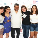 From left: Suset Laboy, and Maria Laboy-Perez of Lalaboy PR, Communications Team for Loisaida, Inc.; Luis Guzmán, Loisaida native, actor, and festival host; Lymaris Albors, the Acacia Network's Director of Project Management; and Luis Guzmán's daughter, Luna.