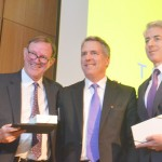 From left to right: Donald Graham, founder of TheDream.US, Milliken, and Ackman.