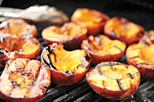 Grill fruit such as peaches or plums.