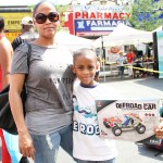 Three-legged relay race winners - William King, 7 years old and Melady Burgos