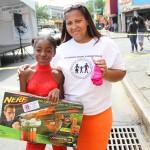 Three-legged relay race winners - Njeri,11 years old and Tatiana Harris
