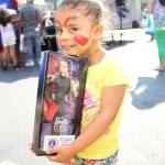 Dance competition winner, Maylany Diaz, 4 years old with her prize
