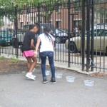 The group participated in a scavenger hunt.