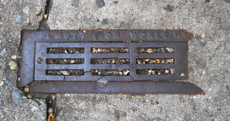 A building drain cover.