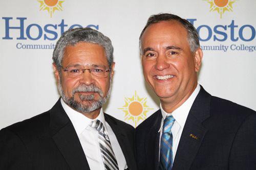 Gómez with his predecessor Dr. Felix Matos-Rodríguez.