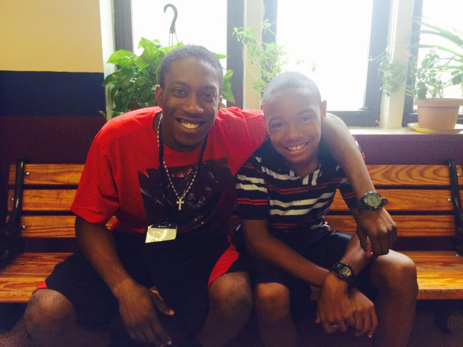 """Being a mentor means everything to me,"" says Tarik Carr (left), here with Robert."