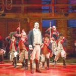 Lin-Manuel Miranda and the company of Hamilton.