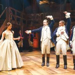 From left to right: Carleigh Bettiol, Miranda, Leslie Odom Jr., and Anthony Ramos.