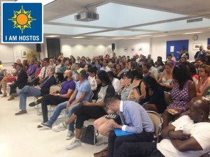 The forum was held at Hostos Community College.