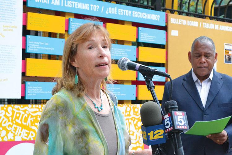 """""""Este lugar es un centro natural para la comunidad"""", explicó Nancy Biberman, presidenta de WHEDco."""