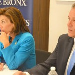Lt. Governor Kathy Hochul and Assemblymember Mark Gjonaj at the small business roundtable.