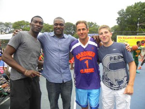 """We're hoping to become the premier basketball tournament in New York City,"" said Jeff Korek (in purple shirt)."
