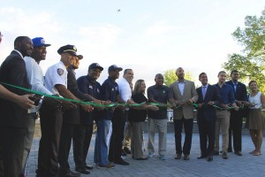 The ribbon-cutting in August.