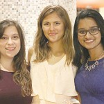 Teaching assistants for the summer program were (from left to right): Margaret Dubowsky, Gina Stalica and Anjali Fernandes.