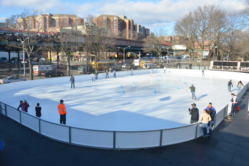 The former site of the ice skating rink. Photo: NYC Parks