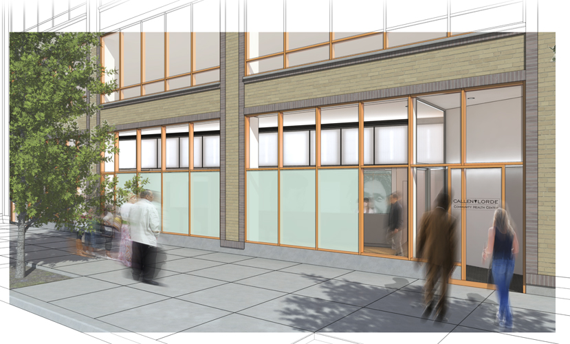 A rendering of the exterior. Photo: Michielli + Wyetzner Architects