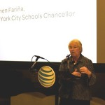 """""""It's working together,"""" said keynote speaker and Schools Chancellor Carmen Fariña."""