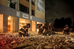 The explosion caused major damage. Photo: Mayoral Photography Office