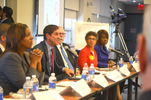 """""""We need to stop this public health epidemic,"""" said Senator Jeff Klein (center)."""