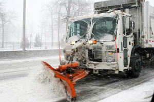 Winter means the removal of snow and ice from city streets.