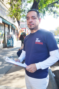 """You have to respect the community,"" said The Bronx Defenders' Walter Rodríguez."