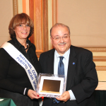 CUNY Senior Vice Chancellor for University Relations Jay Hershenson (right) was honored.
