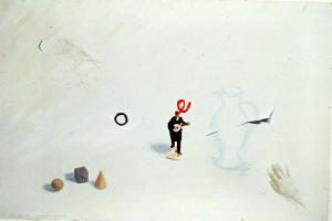 Liliana Porter Bird, Drawing, Model, Painting, Rip, Hand,1982