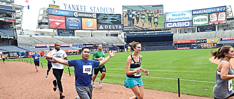 The event is the only charitable run/walk held inside the stadium.