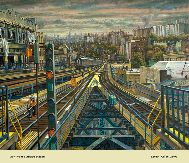 Give the gift of art; here is Daniel Hauben's View from Burnside.