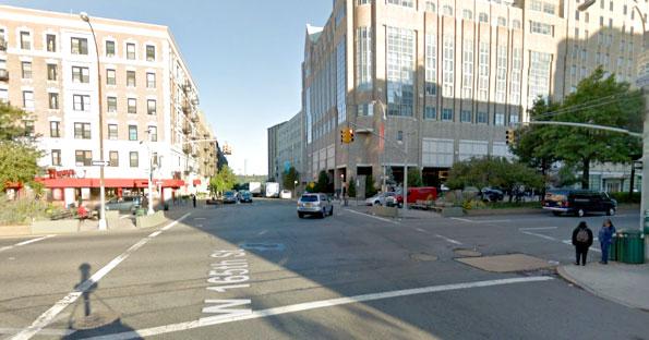 Broadway en la calle 165, donde María Minchala murió. Foto: Google Maps