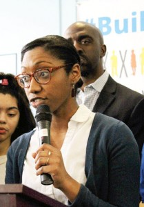 """I am a charter school alum,"" said The Knowledge House's Jerelyn Rodríguez."