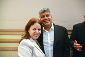 """""""See yourself as a businessperson,"""" encouraged C-Town Supermarkets President Miriam Collado, here with her husband."""