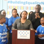 """""""I chose a charter school for my son and daughter,"""" said Sherina Lucas."""