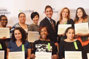 Parent leaders were honored by Sen. Jeff Klein (center).
