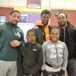 """""""They get to express themselves,"""" Said Counselor Demetrius Dinkins (in green sweater), with participants from the Southeast Bronx Neighborhood Center's afterschool program."""