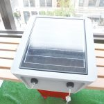 The solar panel is protected with tempered glass.